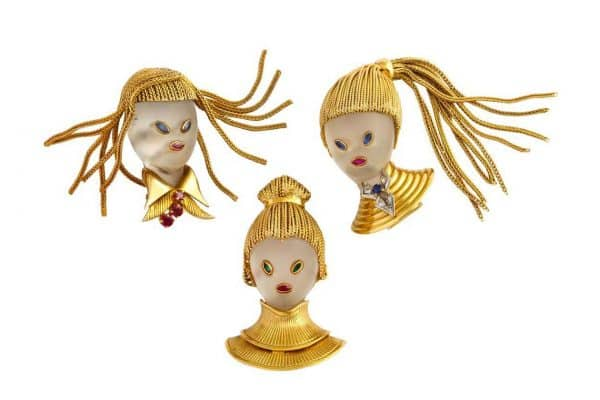 """van cleef and arpels """"chinois"""" pins"""