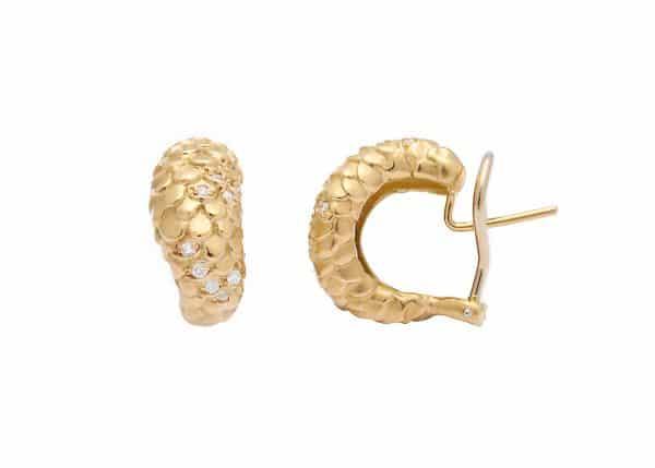 angela cummings pave snake earrings