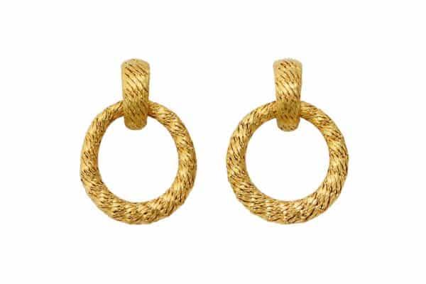 david morris vintage 18k doorknocker earrings