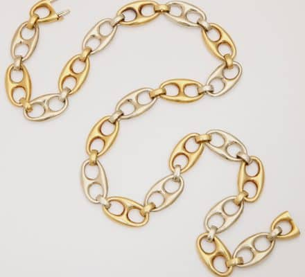 gucci style 18k necklace/chain