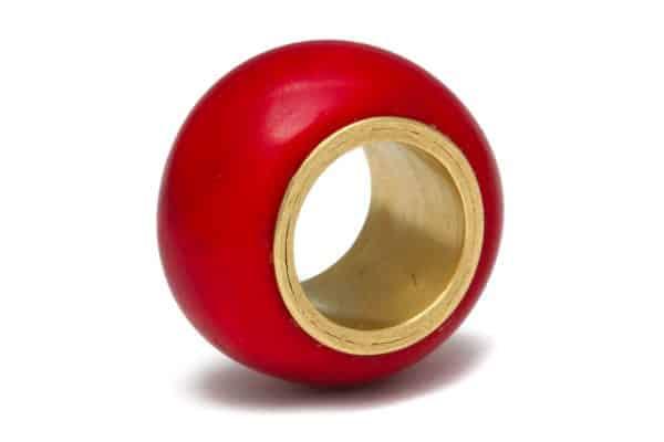 liseanne frankfurt red coral and 18k gold ring