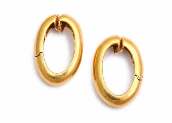 david webb 18k hoop earrings