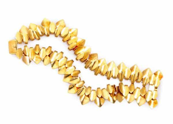 georg jensen flexible 18k gold bracelet