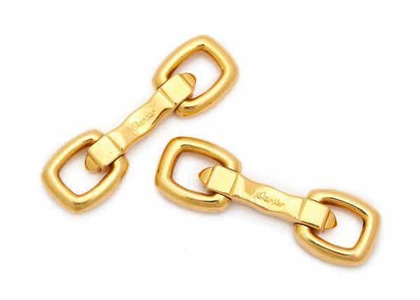 vintage cartier 18k gold cufflinks