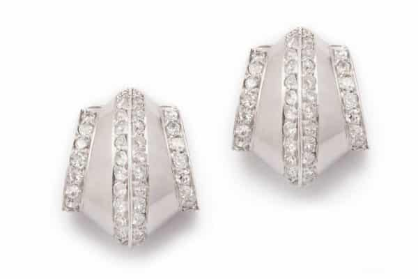 "suzanne belperron ""tuile"" earrings"