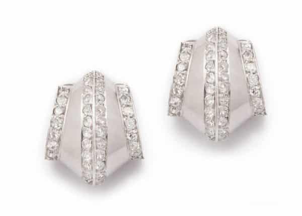 """suzanne belperron """"tuile"""" earrings"""