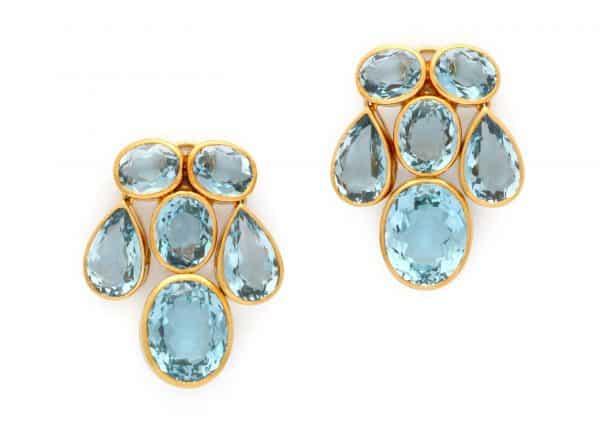 peggy guinness blue topaz earrings