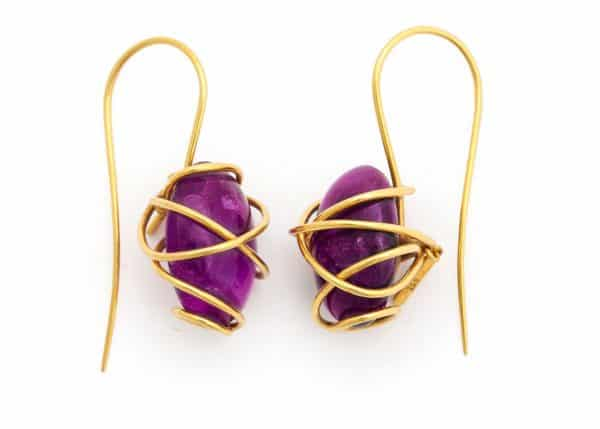 tina chow amethyst earrings