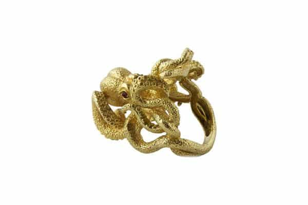 kurt wayne gold octopus ring