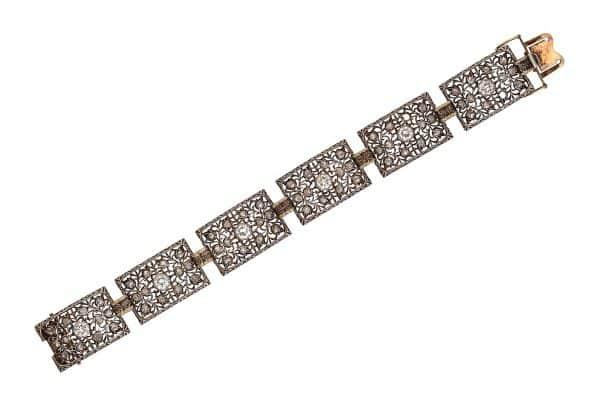 buccellati 18k with gold and diamonds bracelet