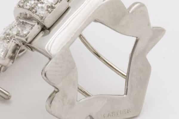 cartier deco diamond pin