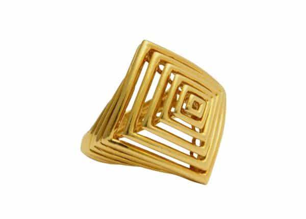 cartier geometric gold ring