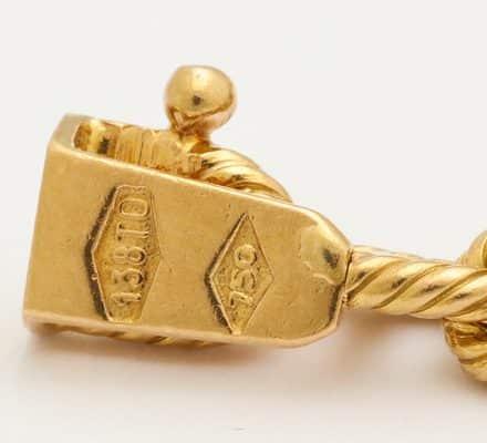 charm bracelet with antique glass intaglios