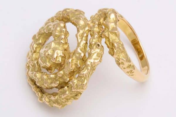 chaumet gold abstract ring