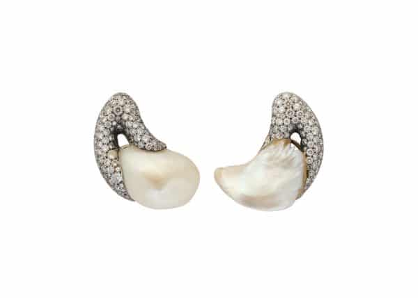 christopher walling paisley pearl and diamond earrings