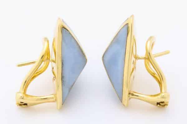 angela cummings blue agate earrings