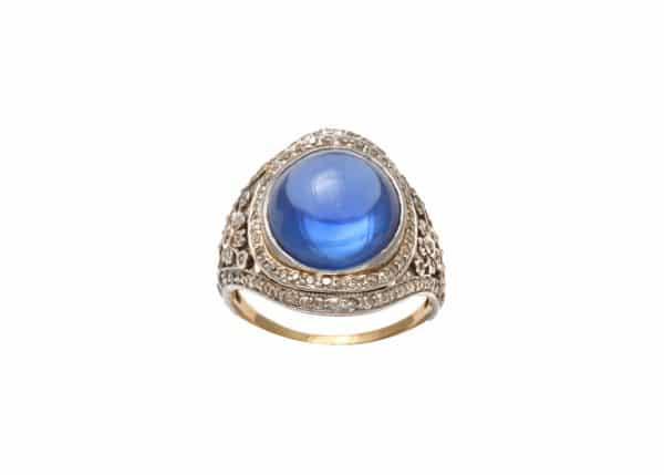 edwardian sapphire + diamond ring