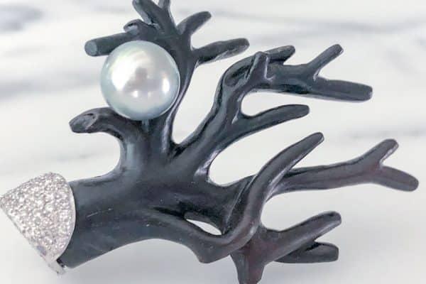 silvia furmanovich jacaranda black coral earrings