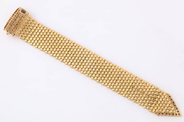 vintage gold and diamond buckle bracelet