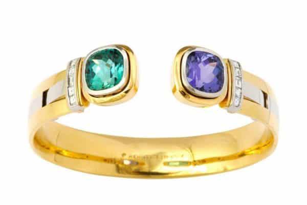 hemmerle tourmaline and tanzanite bracelet