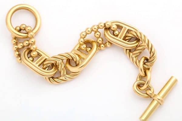 """hermes 18k limited edition """"parade"""" bracelet"""