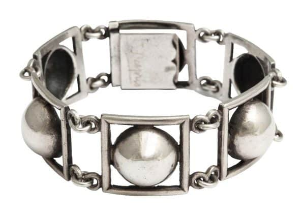 jean despres art deco silver bracelet