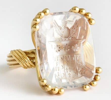 schlumberger intaglio ring