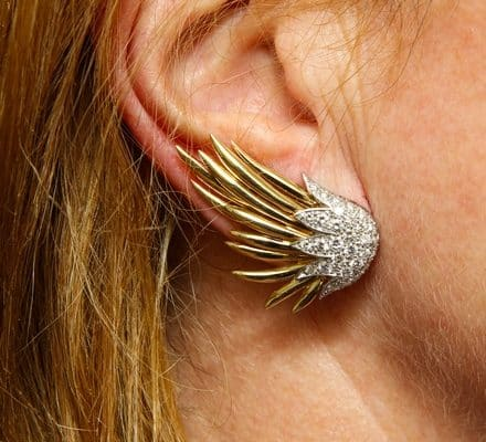 schlumberger paris flame earclips