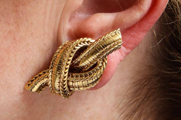 pierre sterle rope twist earrings