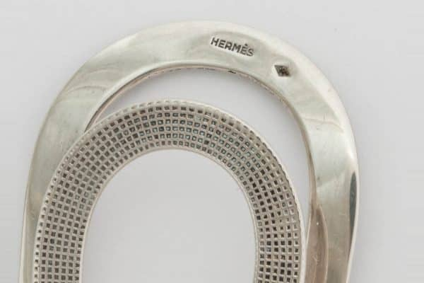 hermes sterling silver money clip