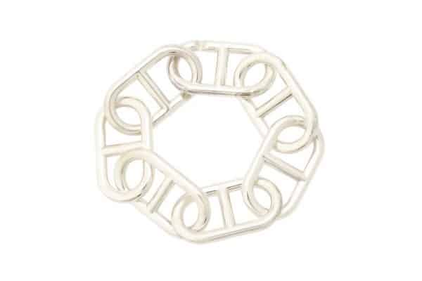 tgm hermes large link sterling chaine d'ancre bracelet