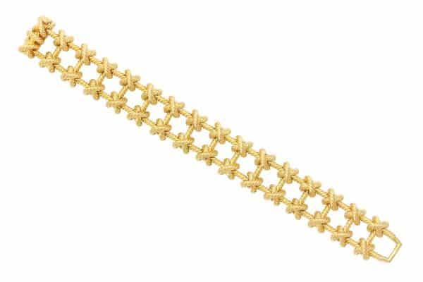 "tiffany fancy retro 18k ""lattice"" bracelet"