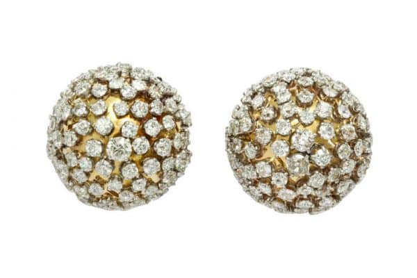 van cleef and arpels gold and diamond retro earrings