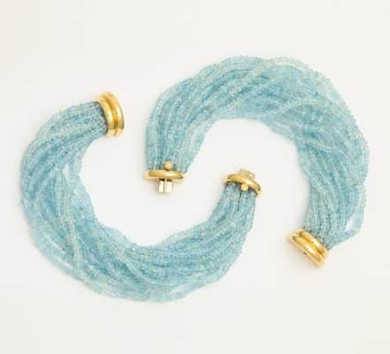 verdura aquamarine bracelets or choker
