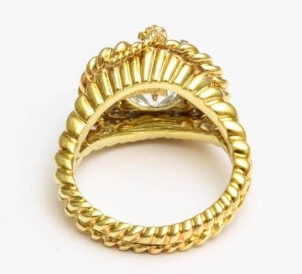 verdura diamond, platinum and eighteen carat gold ring