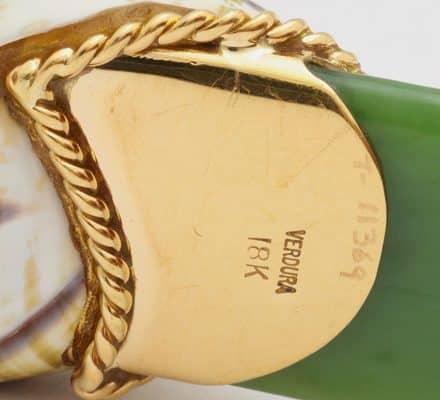verdura jade, 18k and shell letter opener