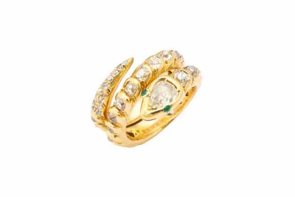 vintage boivin snake ring