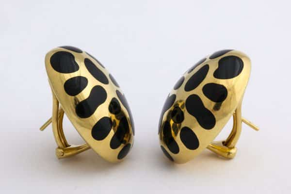 angela cummings leopard spot earrings