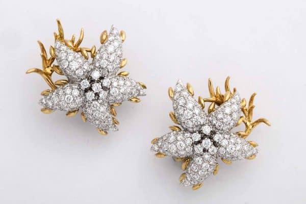 schlumberger design starfish earrings