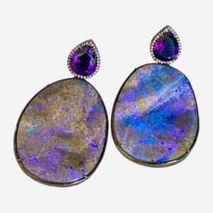 silvia furmanovich opal earrings