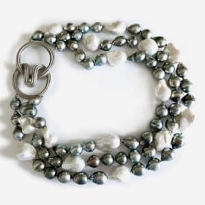 christopher wallings black and white pearl necklace