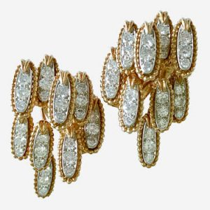 tiffany abstract gold diamond earrings