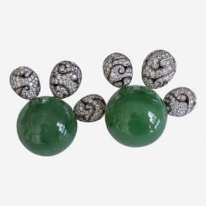 nicholas varney jade and diamond earrings