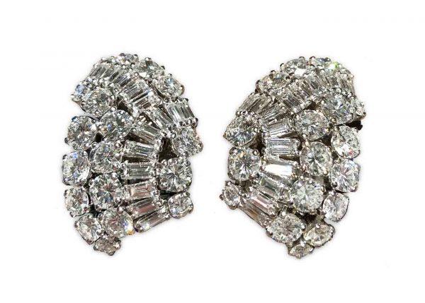 suzanne belperron 20 carat diamond earrings, ca.1940s