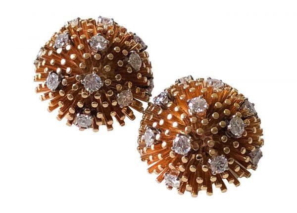 ruser gold diamond earrings-1