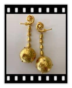 lalaounis 18k jackie-o lunar earrings