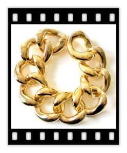 seaman schepps 18k gold curb link bracelet