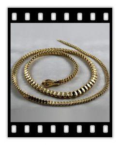 elsa peretti 18k gold snake necklace