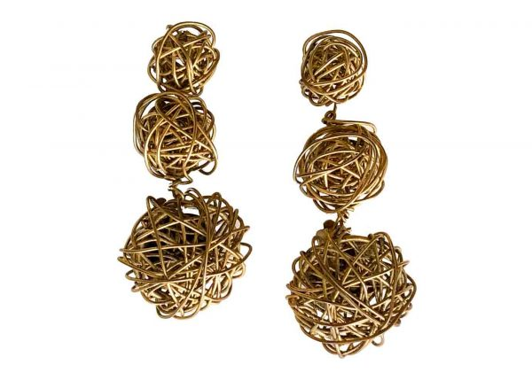 abstract coil earrings