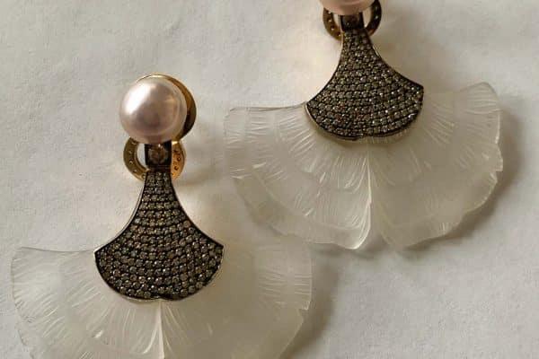silvia furmanovich gingko earrings